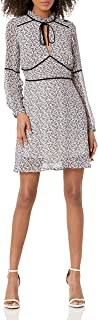 cupcakes and cashmere womens Laurena deliliah ditsy printed dress w/velvet contrast Dress