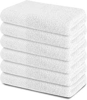 Zuperia Bath Towels 22 x 44 inches, Set of 6 Ultra Soft 100% Combed Cotton Large Bath Towel, Highly Absorbent Daily Usage ...