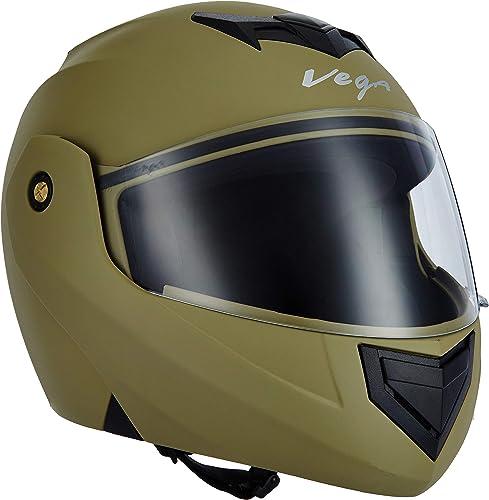 Vega Crux DX Flip-Up Helmet (Dull Desert Storm, L)