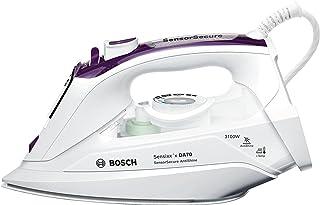 Bosch TDA703121A Sensixx'x DA70 SensorSecure Plancha de vapor, 3100 W, capacidad de 0.38 litros, cerámica, color violeta/blanco