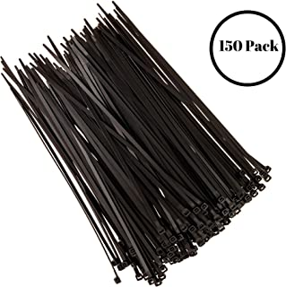 8 Inch Nylon UV Resistant Cable Wire Zip Tie 120 lbs Black 400 Pack Lot Pcs Qty