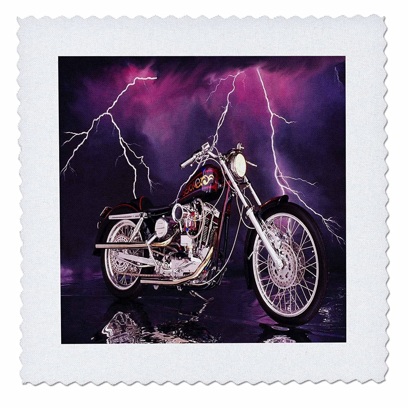 3dRose Quilt Square Picturing Harley-Davidson174; Motorcycle (qs_8332_3) gih9307959