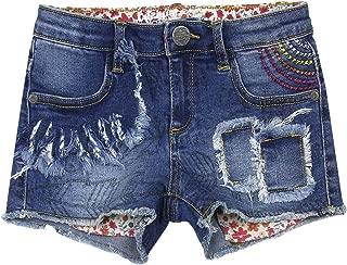 Desigual Girls' Denim Shorts Abad, Sizes 5-14