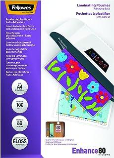 Fellowes 5302202-100 fundas de plastificar auto-adhesivas, 80 micras, formato A3 (297 × 420 mm)