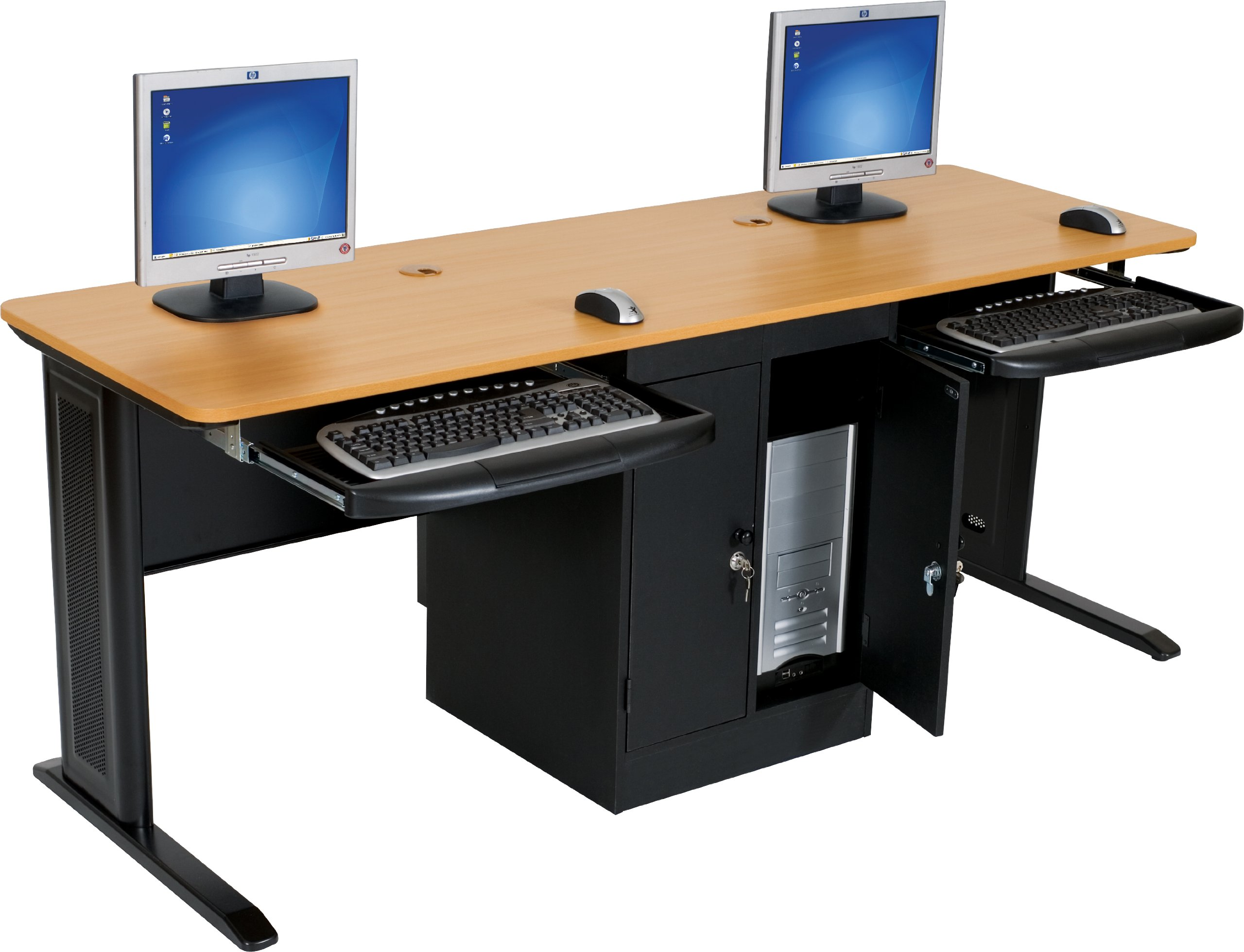 two person computer desk amazon com rh amazon com computer two desktops two tier computer desk
