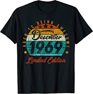 Vintage December 1969 Design 50 Years Old 1969 Birthday Gift T-Shirt