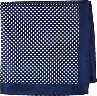 Van Heusen Men's Pocket Square 4 Way Pattern, Navy, One Size