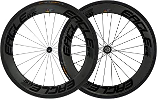 Eagle Lightweight Carbon Fiber Clincher Wheelset in Black for Cycling - DT Swiss 240/Eagle 280 Hubs - Free Conti Tires