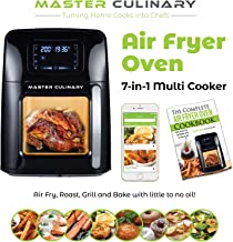Master Culinary Air Fryer Oven | 12 QT XL Family Size | 7 in 1 Multi Cooker | FDA Approved | Free Mobile App and Recipe Book Included | Rapid Air Technology | Ultra Quiet | 2019 Model