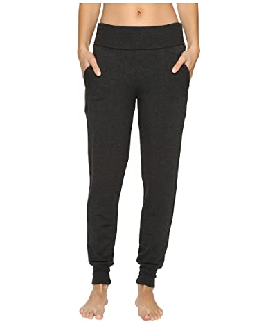 Beyond Yoga Fleece Fold-Over Sweatpants (Charcoal Heather Gray) Women