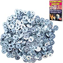 CozYours 200 pcs 0.5 (12.5 mm) Metal Candle Wick Sustainer Tabs (wick tabs)