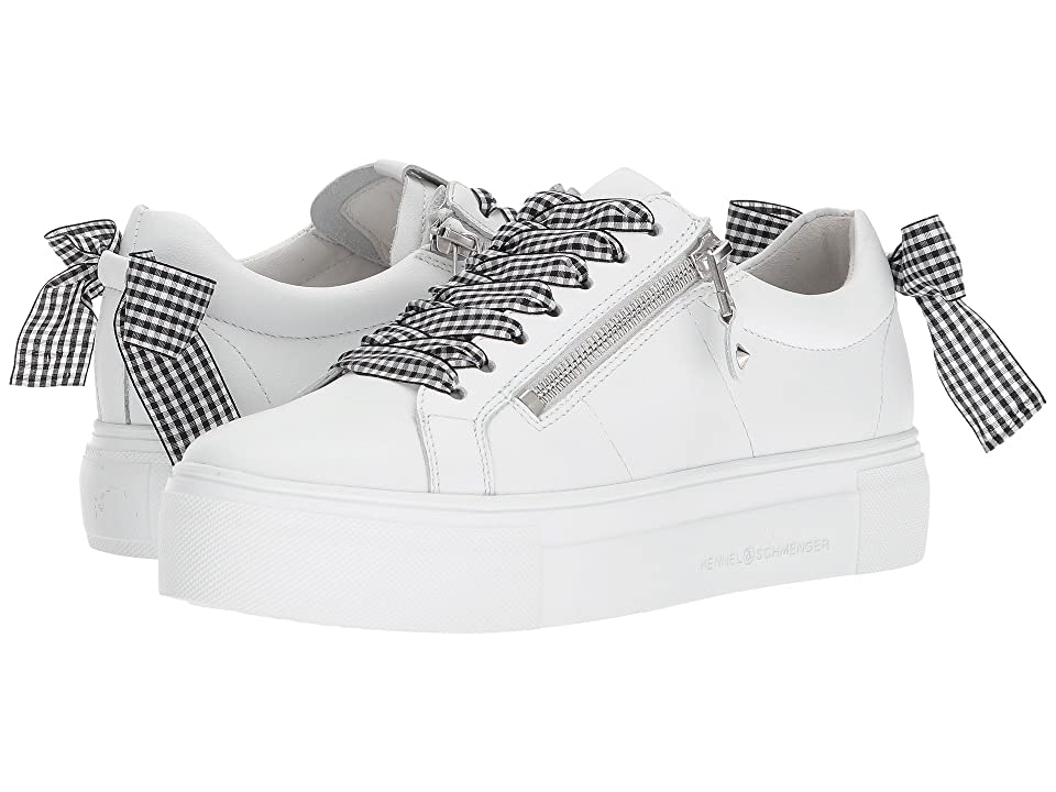 Kennel & Schmenger Big Gingham Lace Sneaker (White/Black Gingham) Women