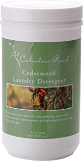 Celadon Road Cedarwood Laundry Detergent All Natural Ingredients Made in USA Ultra Concentrated - Sulfate-Free and Phosphate Free - 64 HE Loads 32oz