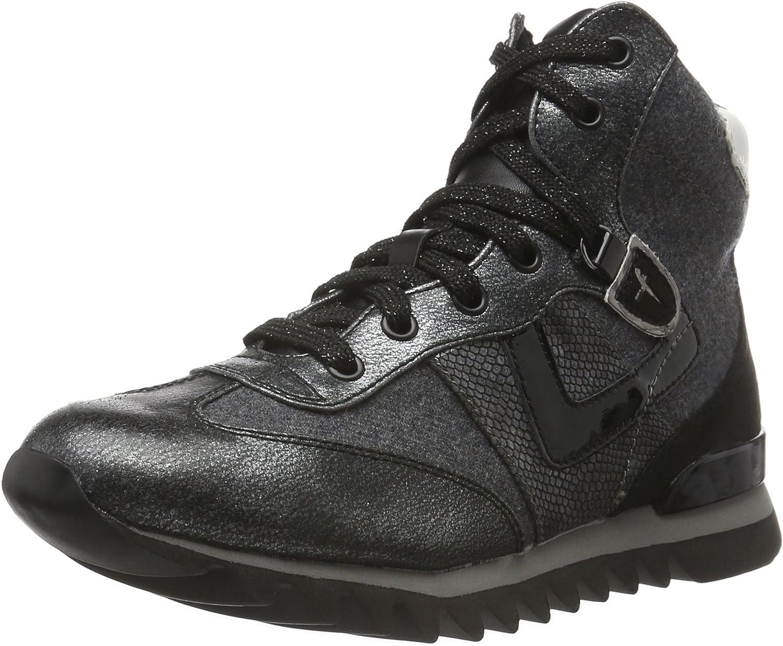 Tamaris Women's 25216 Hi-Top Sneakers, Anthracite Com, 3 UK