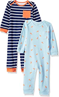 Amazon Essentials Boys' Baby 2-Pack Coverall
