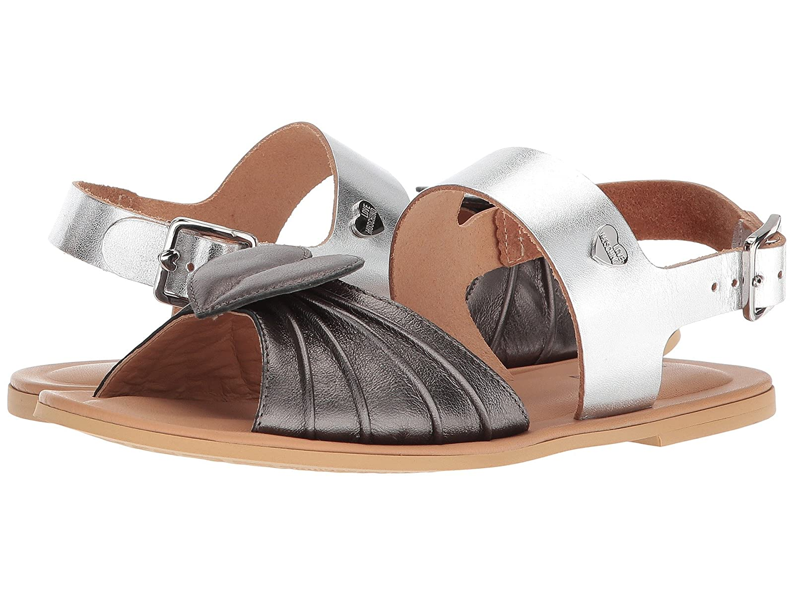 LOVE Moschino Leather Sandals w/ Tone on Tone AccessoriesAtmospheric grades have affordable shoes