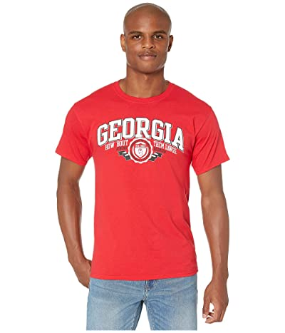 Champion College Georgia Bulldogs Jersey Tee (Scarlet 3) Men