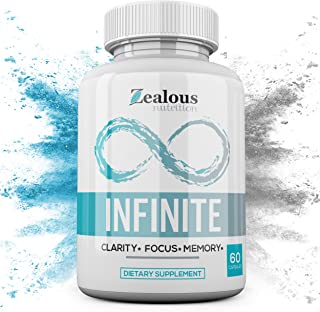 Infinite – NZT Nootropic Brain Booster Supplement – Limitless Enhance Focus, Boost Concentration & Improve Memory | Mind Enhancement with Amino Acids & DHA for Neuro Energy & IQ – 30 Day Supply