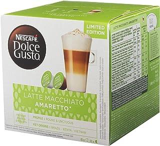Nescafé Dolce Gusto Latte Macchiato Amaretto, Kaffeekapsel, Kaffee, 16 Kapseln / 8 Portionen