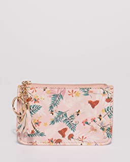 Pink Floral Destiny Key Ring Purse
