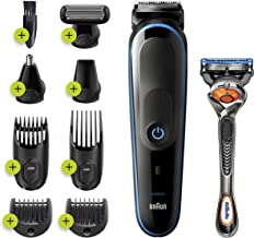Braun Hair Clippers for Men MGK5280, 9-in-1 Beard Trimmer, Ear and Nose Trimmer, Body Groomer, Detail Trimmer, Cordless & ...