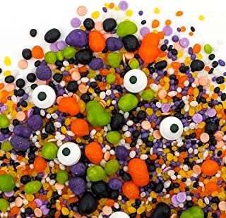 Candy Sprinkles | Monster Mash Candyfetti | Halloween | Green, Purple, Orange, Black | MADE IN THE USA! (8oz Bag)