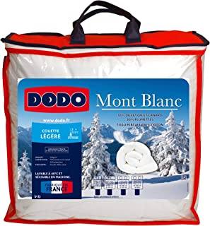 DODO COUETTE MONT BLANC 70% DUVET D'OIE - CHAUDE - 220 x 240 cm