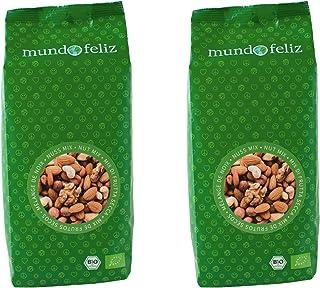 Mundo Feliz - Lot de 2sachets de mélange de noix bio, 2x500g