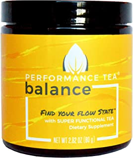 Sponsored Ad - BALANCE by Performance Tea - Stress-Reducing Adrenal Support Tea with Lemon & Mint- Instant Herbal Adaptoge...