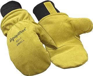 RefrigiWear Fleece Lined Fiberfill Insulated Cowhide Leather Mitten Gloves