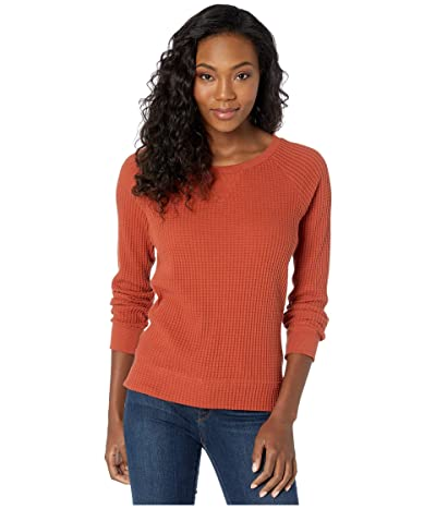 The North Face Long Sleeve Chabot Crew (Picante Red) Women
