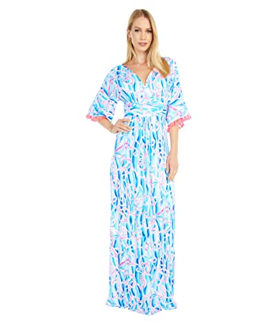 Lilly Pulitzer Parigi Maxi Dress (Skim Blue Reel Nauti) Women