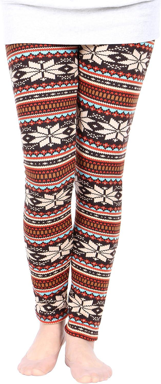 Warm Christmas Leggings Elk Snowflake  Reindeer Stretchy Pants Winter Pants