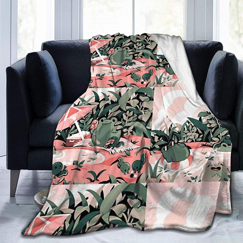 WUKON Super-Soft Froggie Frolic 激安価格と即納で通信販売 Fun for Throw Suitable Blanket 豪華な S
