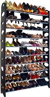 Zapatero de 10 Niveles Estantería con Capacidad máx. de 50 Pares de Zapatos