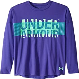 UA Overlay Branded Long Sleeve Tee (Big Kids)