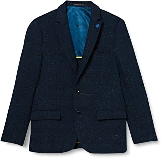 Scotch & Soda Men's Classic Singlbreasted Neps Wool-Blend Blazer Casual