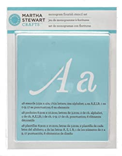 Martha Stewart Crafts Alphabet Stencil, 32988 Monogram Flourish