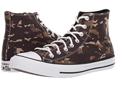 Converse Chuck Taylor All Star All Over Camo Hi (Black/Khaki/White) Shoes