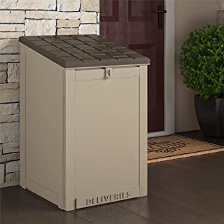 Cosco Outdoor Living BoxGuard, Large Lockable Package Delivery and Storage Box, 6.3 Cubic feet, Tan