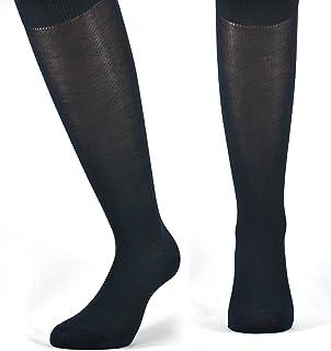 Fontana Calze, 12 paia di calze LUNGHE in puro cotone Filo di Scozia elasticizzate, confortevoli e rinforzate su punta e t...
