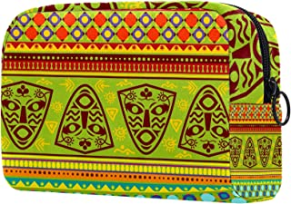 for Women Travel Cosmetic Organizer Tribe Africa with Zipper Makeup Bag Toiletry Bags