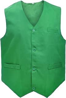 Waiter Uniform Unisex Button Vest for Supermarket Clerk & Volunteer