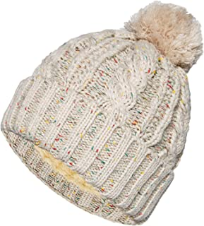 Winter Pom Pom Beanie Hat - Soft Thick Slouchy Cable Knit Ski Chunky Bobble Hat for Women ¡