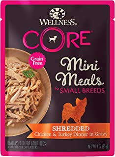 Wellness CORE Natural Grain Free Small Breed Mini Meals Wet Dog Food, 3-Ounce Pouch (Pack of 12)