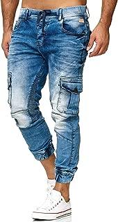 Irypulse Vaqueros Jeans Para Hombres Pantalones Mezclilla Rasgados Agujeros Lapiz Ajustados Retro Lavados Multibolsillos Moda Casual Pantalones Para Adolescentes Nino Cintura Comoda Abotonada Creeo Com Br