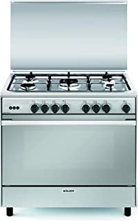 Glemgas 90X60 5 Burners, Full Safity Cast Iron, Self Cleaning Oven Made in Italy 1126UN9612GI/FSG