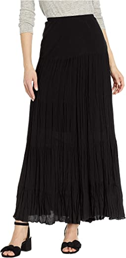 Crushed Tiered Maxi Skirt
