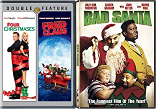 Bad Santa Holiday Bundle Fred Clause & Four Christmases Special Movie Holiday Bundle Triple Feature Comedy Classic Movie Set