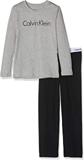 Calvin Klein LS Knit PJ Set Pijama (Pack de 2) para Niños